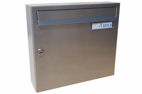 DOLS Poštovní schránka A-01 - NEREZ + RAL 7040 šedá - DOLS Poštovní schránka A-01 NEREZ + RAL 7040 šedá