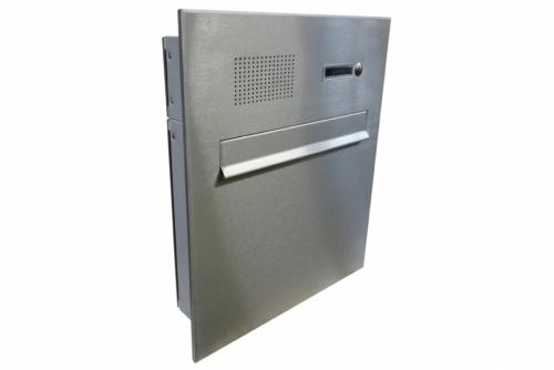 DOLS Poštovní schránka A-04 do sloupku nebo plotového dílce s el. + čelní deska se zvonkem a HM URMET- NEREZ - DOLS Poštovní schránka A-04 do sloupku nebo plotového dílce s el. + čelní deska se zvonkem a HM URMET NEREZ
