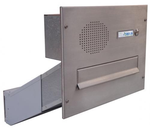 DOLS Poštovní schránka D-041 do sloupku s el. + čelní deska se zvonkem a HM URMET - NEREZ - DOLS Poštovní schránka D-041 do sloupku s el. + čelní deska se zvonkem a HM URMET NEREZ