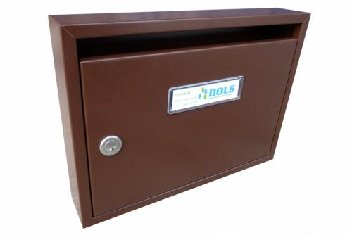 DOLS Poštovní schránka E-01 N - RAL 8017 hnědá - DOLS Poštovní schránka E-01 N RAL 8017 hnědá