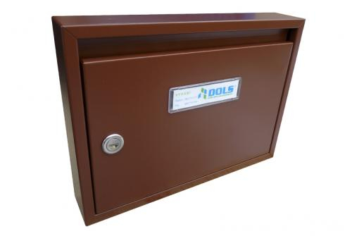 DOLS Poštovní schránka E-01 - RAL 8011 hnědá - DOLS Poštovní schránka E-01 RAL 8011 hnědá