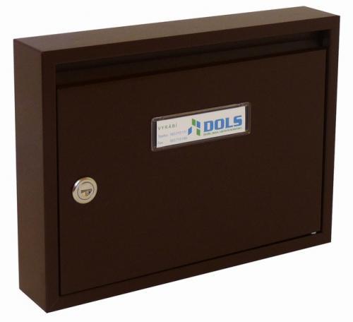 DOLS Poštovní schránka E-01 - RAL 8017 hnědá - DOLS Poštovní schránka E-01 RAL 8017 hnědá