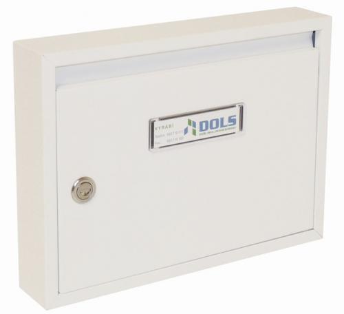 DOLS Poštovní schránka E-01 - RAL 9016 bílá - DOLS Poštovní schránka E-01 RAL 9016 bílá