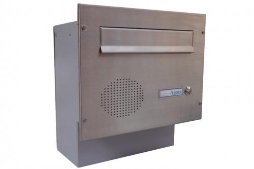 DOLS Poštovní schránka F-04 do sloupku s el. + čelní deska se zvonkem a HM URMET - NEREZ - DOLS Poštovní schránka F-04 do sloupku s el. + čelní deska se zvonkem a HM URMET NEREZ