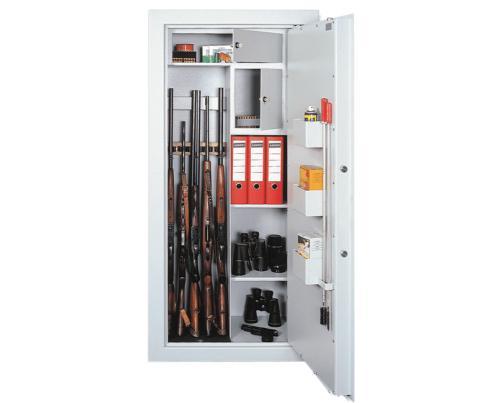 T-SAFE Skříň na zbraně SZ 10/5 M - T-SAFE Kombinovaná skříň na pět zbraní SZ 10/5 M