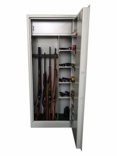 Justra Kombinovaná skříň na pět zbraní ZJ 10 VARIANT, tmavě šedá - Justra Kombinovaná skříň na pět zbraní ZJ 10 VARIANT, tmavě šedá