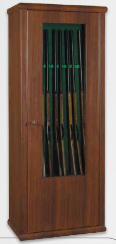 Metalk Luxusní prosklená skříň na sedm zbraní Scrigno, poličková - Metalk Luxusní prosklená skříň Scrigno poličková, black/white