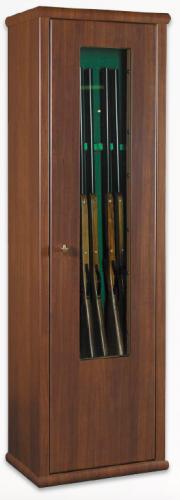 Metalk Luxusní prosklená skříň na sedm zbraní Scrigno - Metalk Luxusní prosklená skříň na sedm zbraní Scrigno, wood line