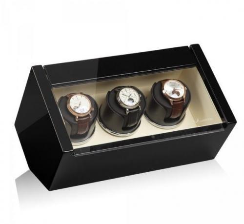 Modalo Natahovač hodinek LUXWINDER CARAT ČERNÁ/BÉŽOVÁ pro troje hodinky - Modalo Natahovač hodinek LUXWINDER CARAT ČERNÁ/BÉŽOVÁ pro troje hodinky