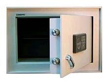 Safmetal STĚNOVÝ TREZOR SAF 022 SE - Safmetal Trezor do zdi SAF 022 SE EL, šedá