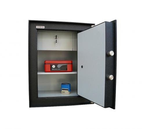 Safmetal STĚNOVÝ TREZOR SAF 022 SV - Safmetal Trezor do zdi SAF 022 SV KL-MC, černá