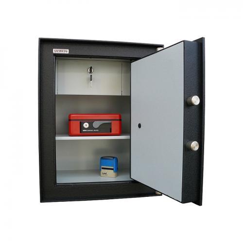 Safmetal STĚNOVÝ TREZOR SAF 022 SVE - Safmetal Trezor do zdi SAF 022 SVE KL-EL, šedá