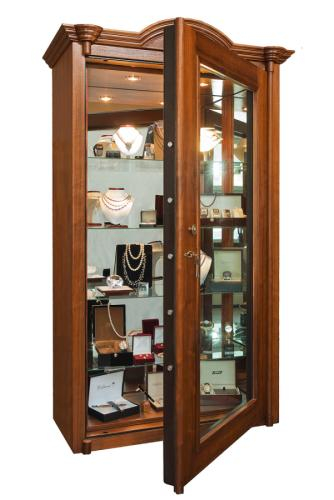 Trezor-Liktor Luxusní prosklený trezor Jewellerey Vitrine - Trezor-Liktor Luxusní prosklený trezor Jewellerey Vitrine